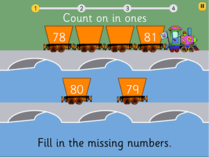 Preview of game Count on in ones to 100