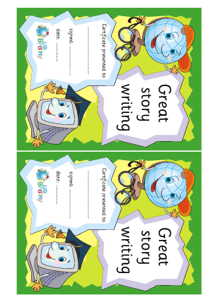 Preview of worksheet Great Story Writing (1)