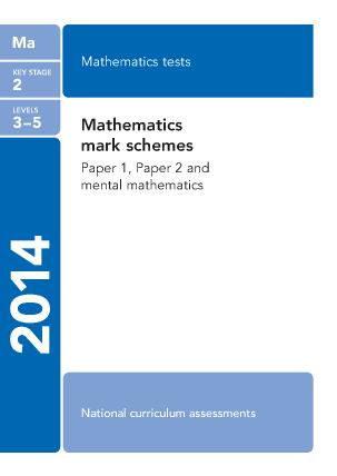 Preview of worksheet Maths Mark Sceme 2014