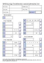 Maths Mental Arithmetic 2014