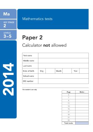 Maths Paper 2 2014