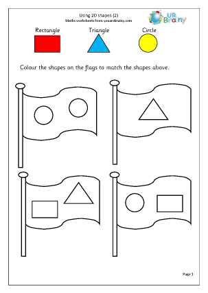 Preview of worksheet Using 2D shape (2)