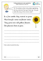 Putting sentences in order: gardening