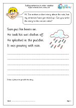 Putting sentences in order: weather