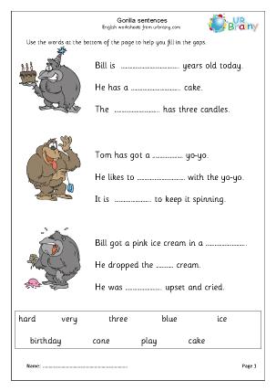 Gorilla: Missing Words