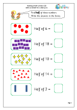 Halve small numbers (5)
