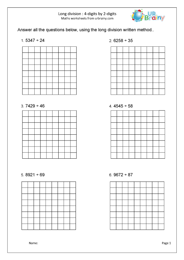 Preview of 'Divide 4-digits by 2-digits: with squares'