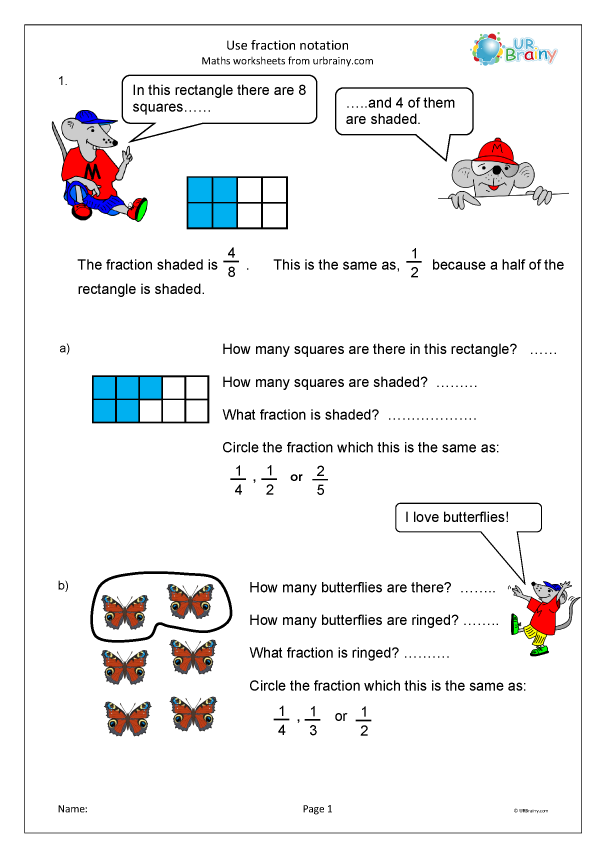 Preview of 'Use fraction notation'