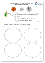 Making totals using coins (3)