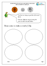 Making totals using coins (4)