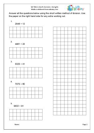 Divide 4-digits by 2-digits short method