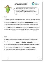 Dictation sentences (1)