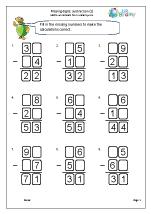 Written subtraction: missing digits (2)