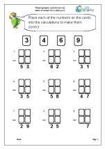 Written subtraction: missing digits (1)