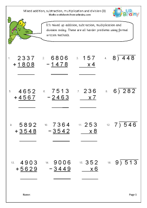 Preview of worksheet Four rules (3)