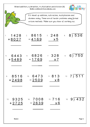 Preview of worksheet Four rules (4)