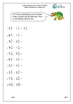 Subtracting mixed numbers (easier)