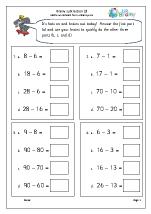 Brainy subtraction 3 (intelligent practice)