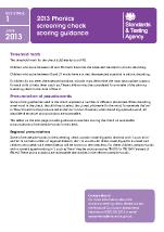 2013 Phonics screening: scoring guidance
