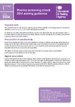 2014 Phonics screening: scoring guidance