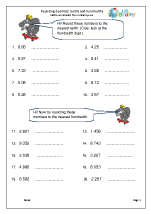 Rounding decimals: tenths and hundredths (1)
