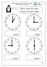 time worksheets for year 1 age 5 6. Black Bedroom Furniture Sets. Home Design Ideas