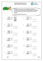 estimating 4 digit subtraction subtraction maths worksheets for year 4 age 8 9. Black Bedroom Furniture Sets. Home Design Ideas