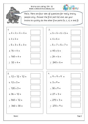 Intelligent calculating (3)