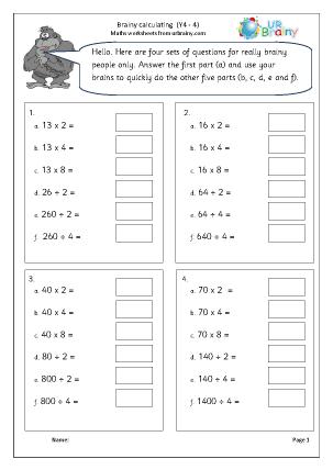 Intelligent calculating (4)