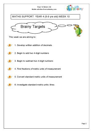 Preview of worksheet Week 10