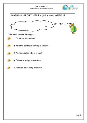 Preview of worksheet Week 17