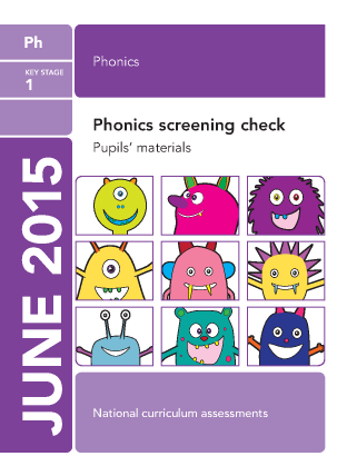 Preview of worksheet 2015 Phonics screening check   pupil's  materials