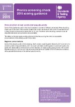 2015 Phonics Screening Check Scoring Guidance