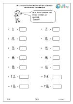 write decimal equivalents of tenths and hundredths fractions and decimals maths worksheets for. Black Bedroom Furniture Sets. Home Design Ideas
