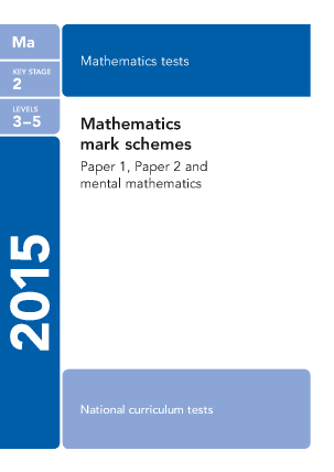 Preview of worksheet Maths Mark Scheme  2015
