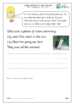 Putting sentences in order: interests