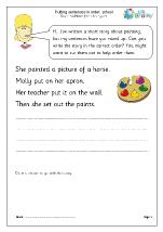 Putting sentences in order: school