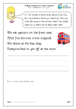 Putting sentences in order: transport