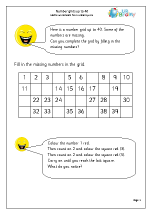 Number grid to 40