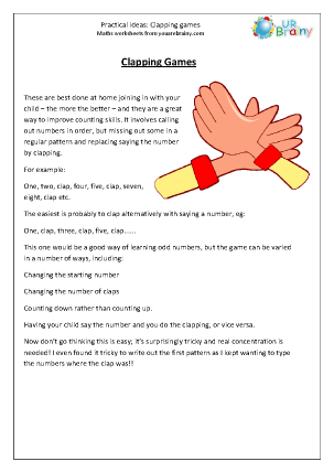 Preview of worksheet Clapping games