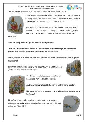 Peter Rabbit  part 1: harder