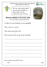 Putting sentences in order: Peter Rabbit (3)