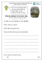 Putting sentences in order: Peter Rabbit (3)
