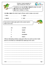 Prefixes: mixed examples (1)