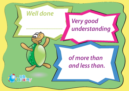 Preview of worksheet Very Good Understanding of More Than and Less Than