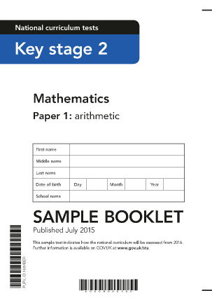 2016 Sample KS2 Mathematics Paper 1 Arithmetic