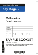 2016 Sample KS2 Mathematics Paper 3 Reasoning