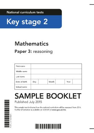Preview of worksheet 2016 Sample KS2 Mathematics Paper 3 Reasoning