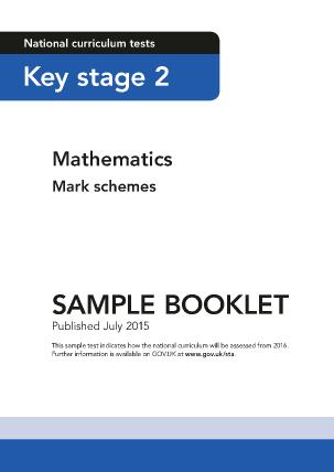 2016 Sample KS2 Mathematics Mark schemes