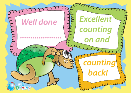 Preview of worksheet Excellent Counting On and Counting Back